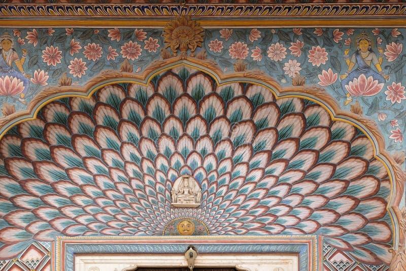 Строб лотоса на Chandra Mahal, дворце города Джайпура стоковое изображение
