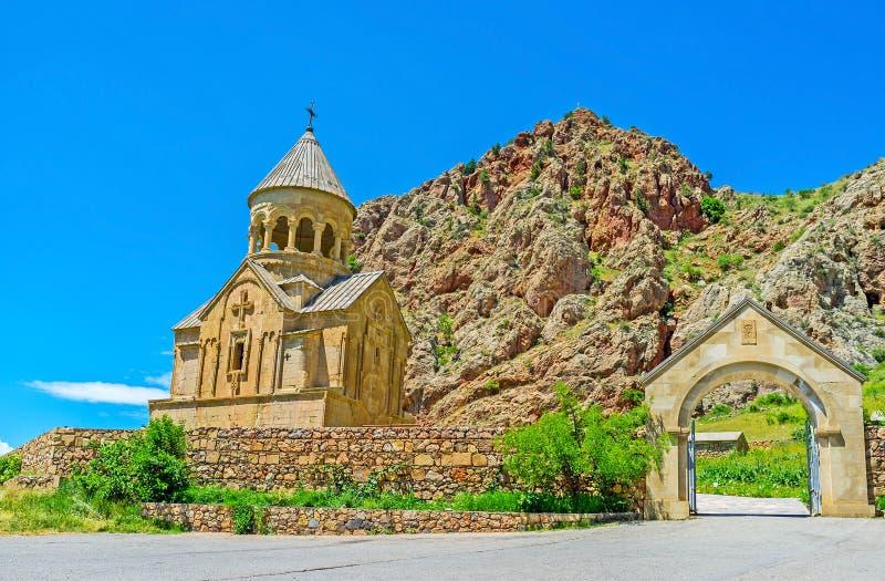 Строб монастыря Noravank стоковая фотография rf