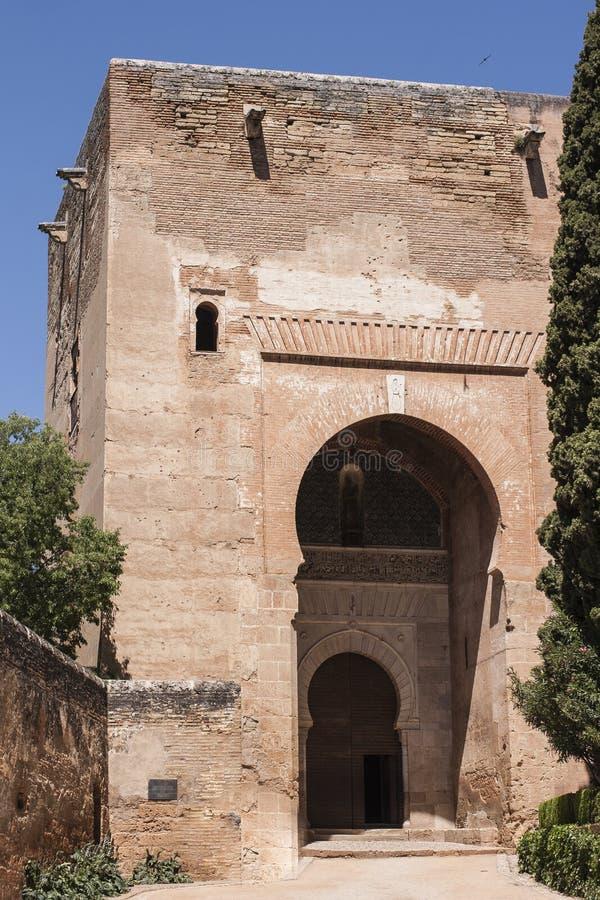 Строб правосудия в Альгамбра, Гранаде, Испании стоковые изображения rf