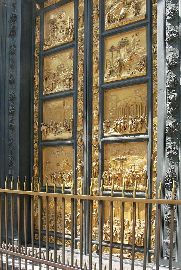 Строб рая Ghiberti в Флоренсе Firenze, Италии стоковое фото