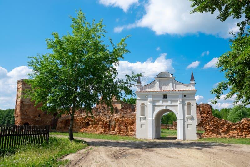 Строб руин Carthusian монастыря в городе Beryoza, область Бреста, Беларусь стоковое фото rf