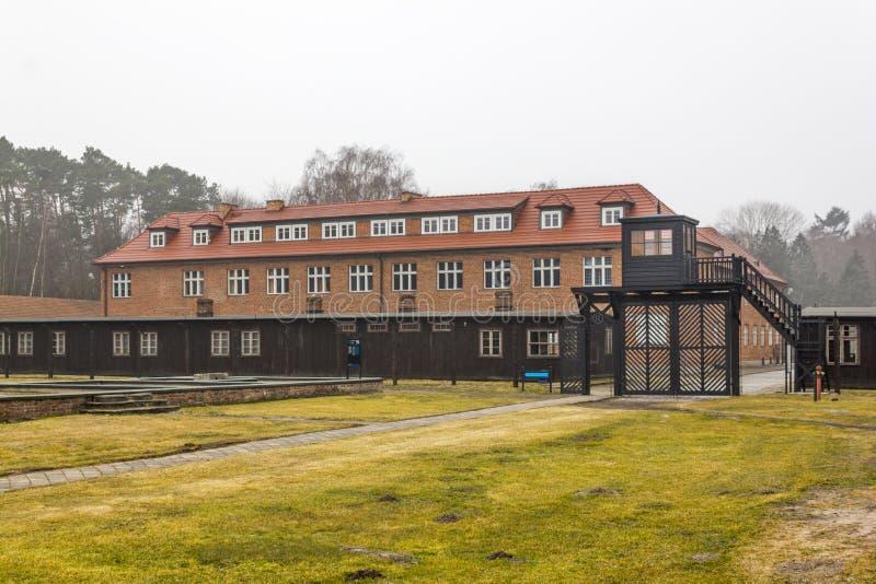 Строб смерти и штабы командира в KL Stutthof, Польше стоковые изображения