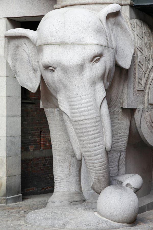 Строб слона в Копенгагене стоковые изображения rf