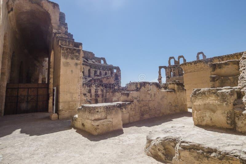 Строб Amphitheatre El Djem стоковое изображение