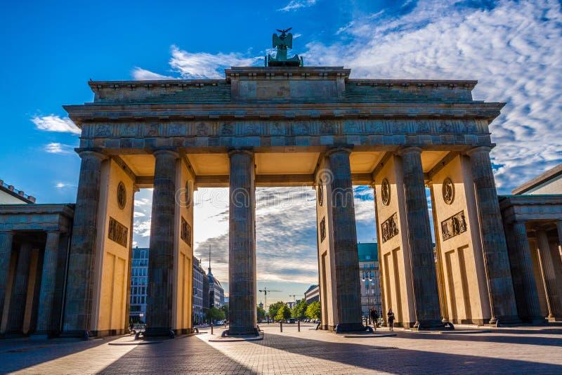строб berlin brandenburg Германия стоковые изображения rf