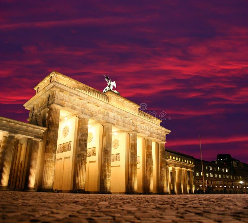 строб berlin brandenburg стоковое изображение rf