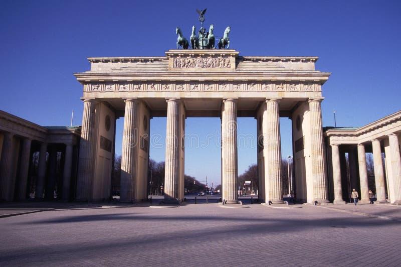 строб berlin brandenburg стоковое фото