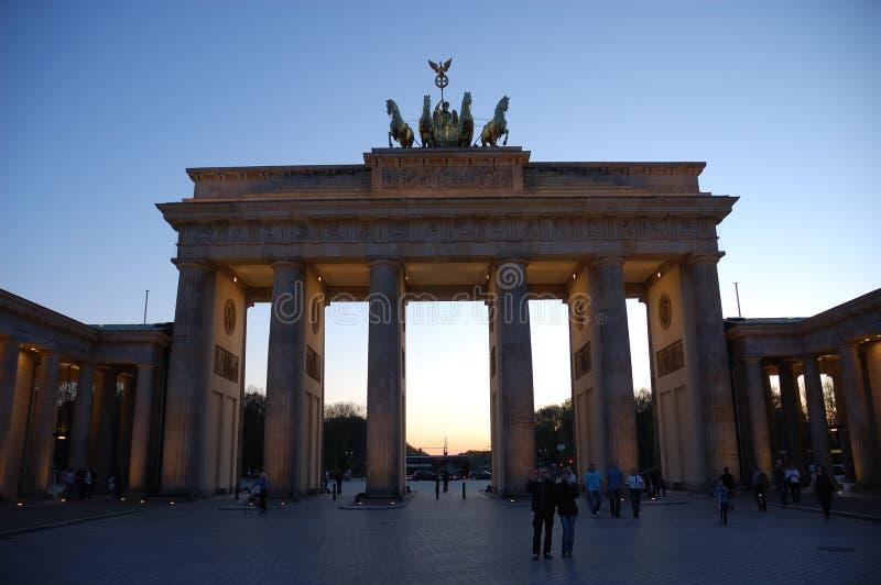 строб brandenburger berlin стоковое изображение rf