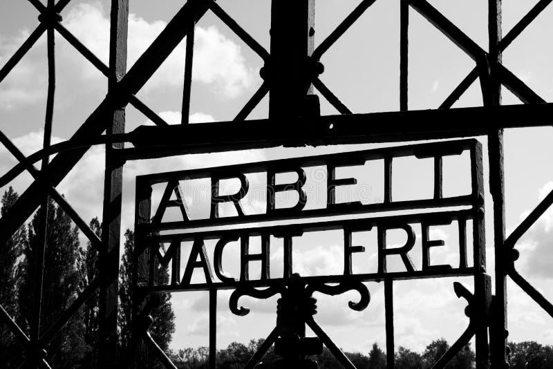 строб dachau концентрации лагеря стоковое фото