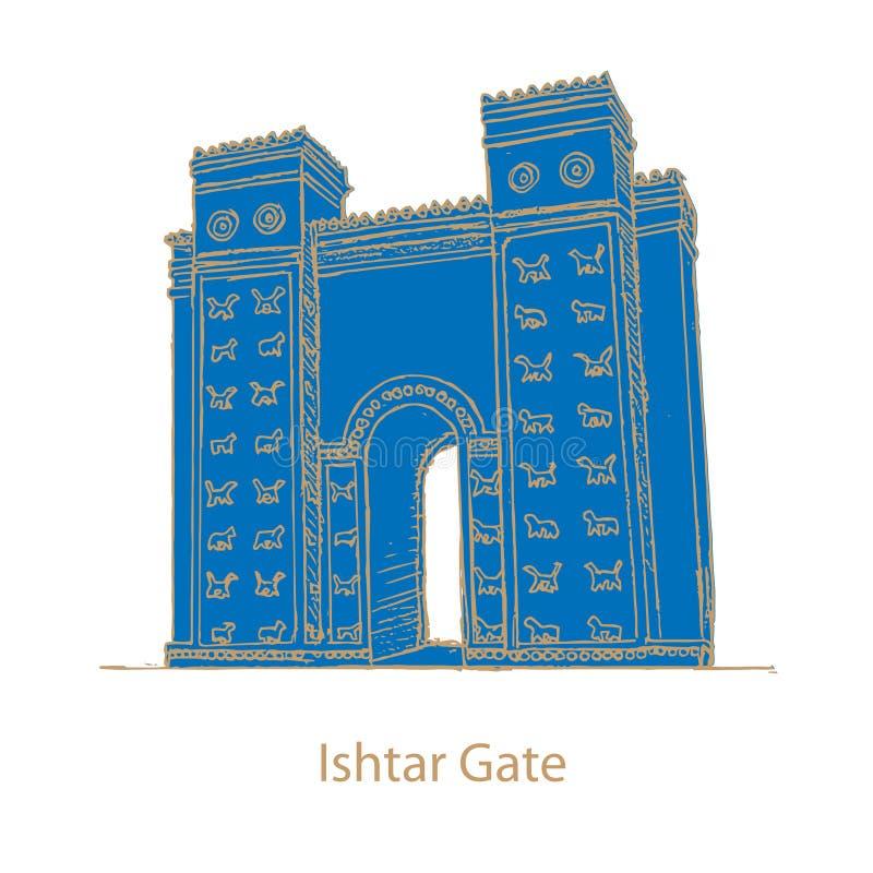 Строб Ishtar вавилонянина иллюстрация вектора