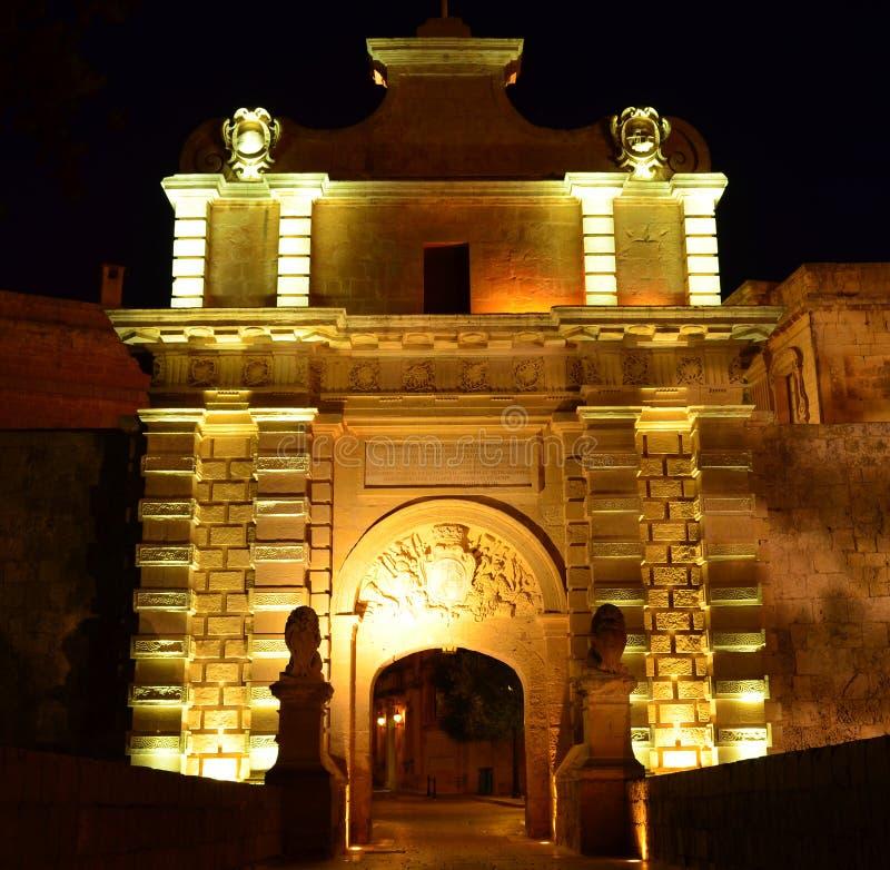 Строб Mdina - Мальта стоковые изображения rf