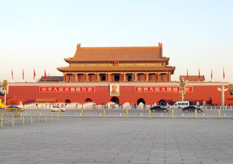 строб tiananmen Пекин стоковые изображения rf