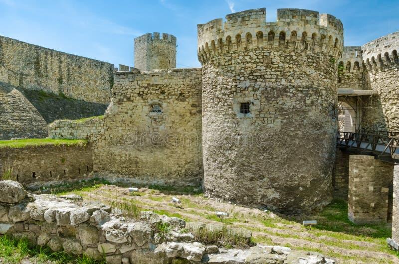 Строб Zindan крепости Belgrad, Сербии стоковая фотография rf