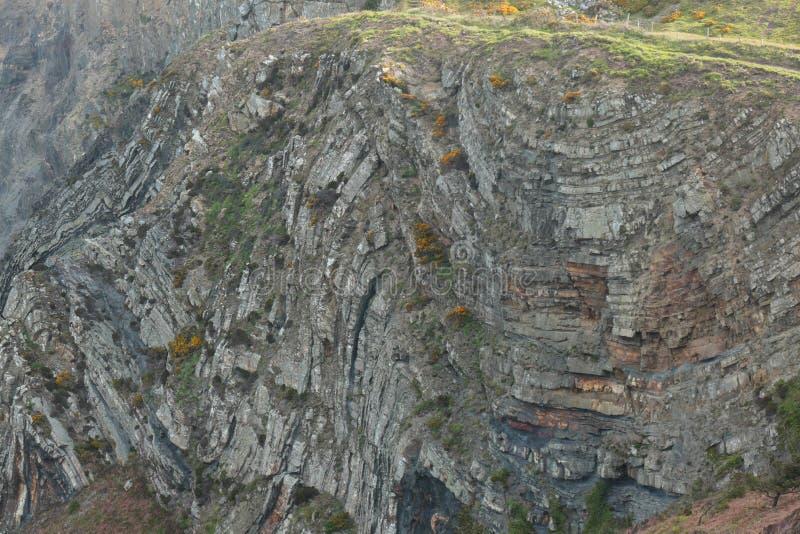 Строго складчатые породы стоковая фотография rf