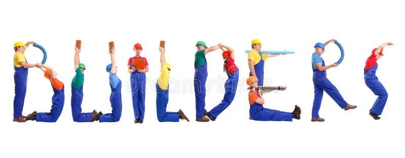 строители стоковое изображение
