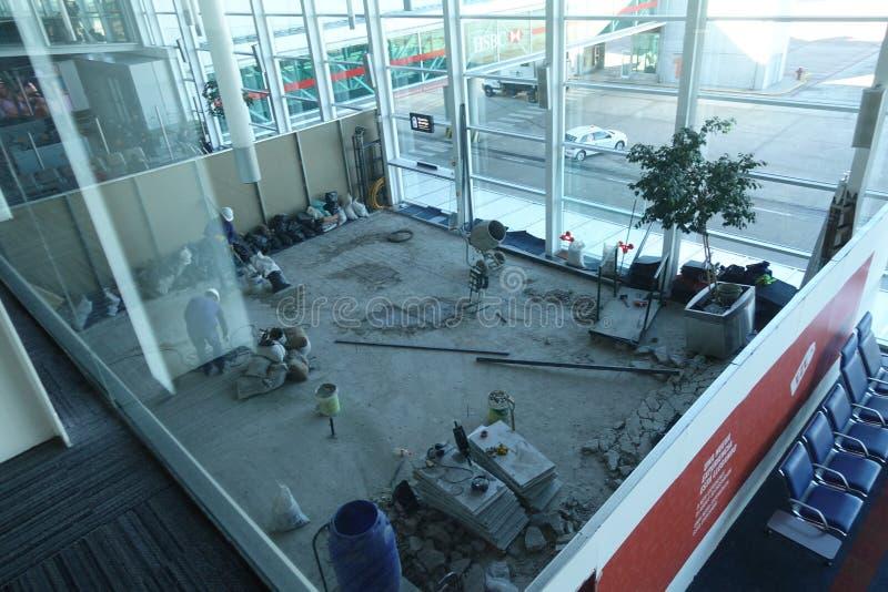 Строительная площадка в аэропорте Буэноса-Айрес Аргентины стоковое изображение