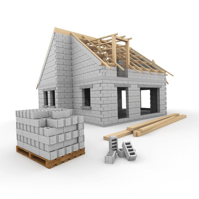 Строительная площадка дома бесплатная иллюстрация