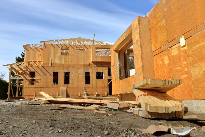 Строительная площадка дома или домашних стоковые изображения rf