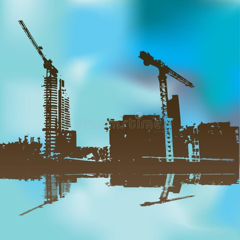 строительная площадка предпосылки иллюстрация штока