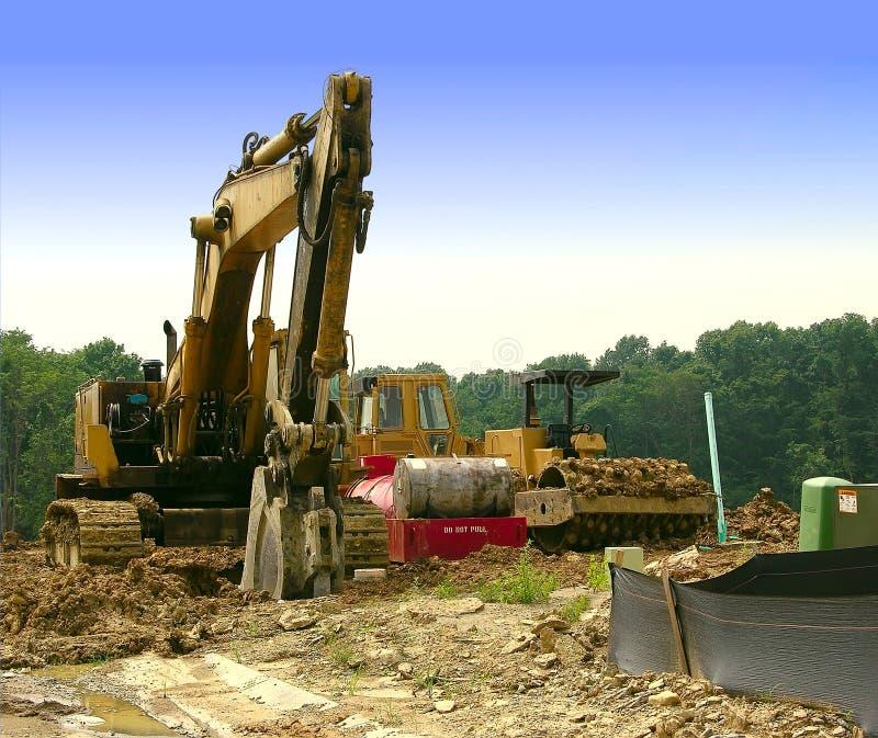 строительное оборудование тяжелое Стоковое Изображение