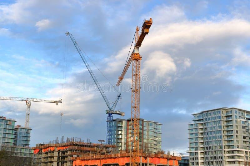 Строительный бум Ванкувера Канады стоковые изображения