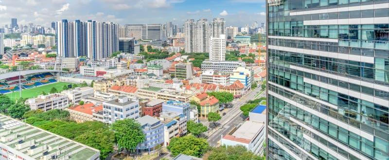 Строительный комплекс кондоминиума Сингапура на районе Kallang стоковое изображение rf