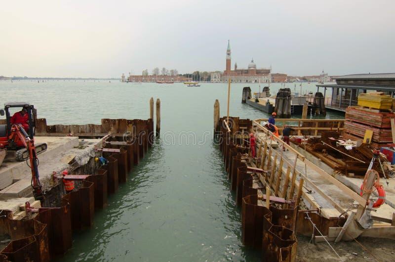 Строительства в Венеции стоковые фотографии rf