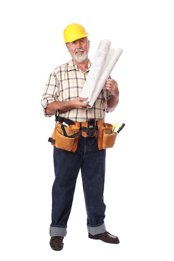 строитель жизнерадостный стоковое фото rf