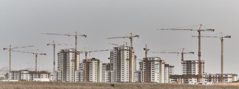 Строительная площадка в Израиле стоковое фото rf