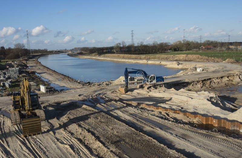Строительная площадка канала воды стоковая фотография rf