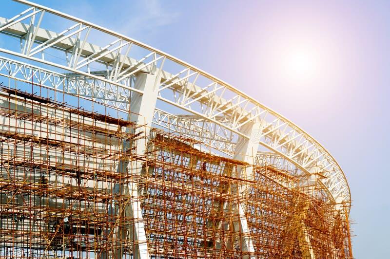 Строительная площадка стадиона стоковые изображения