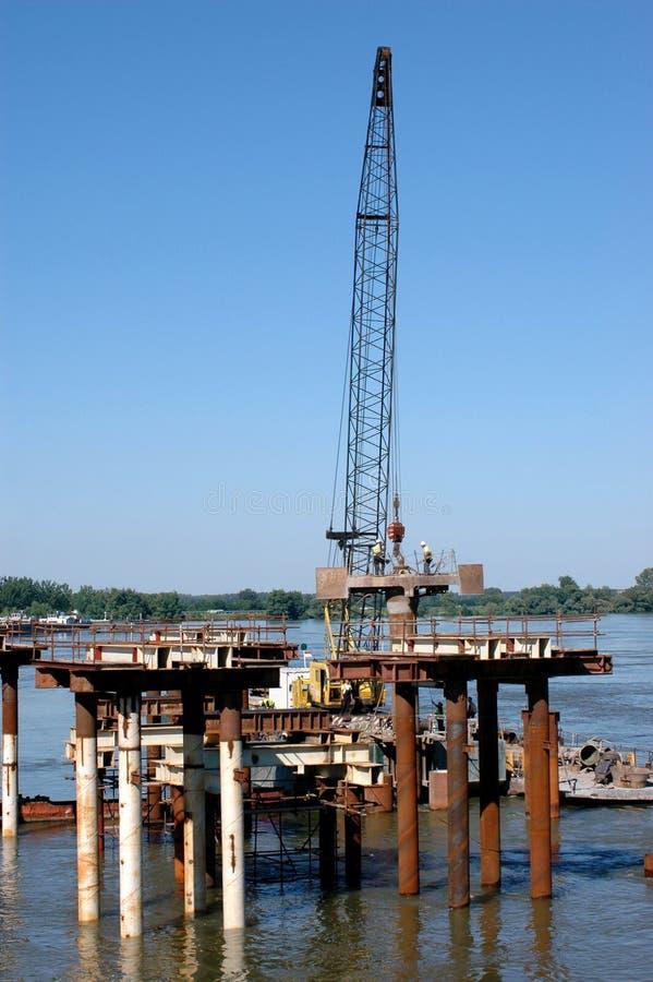 Строительство моста стоковое фото rf