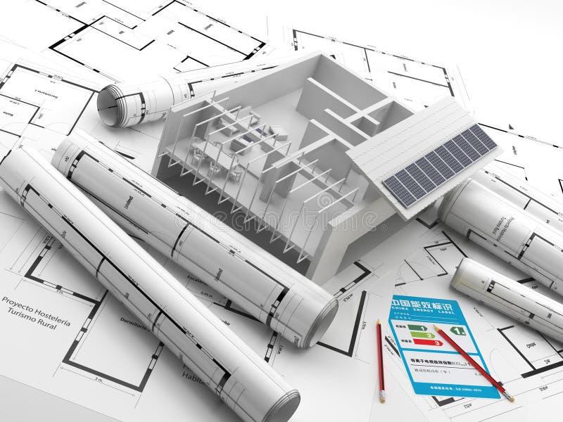 Строительство энергия способная к возрождению имущество фарфора реальное иллюстрация вектора