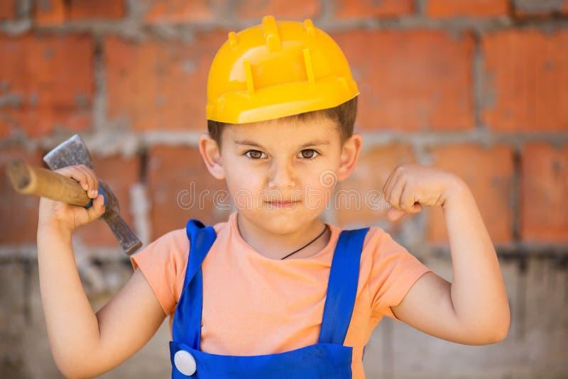 строитель немногая стоковое изображение rf