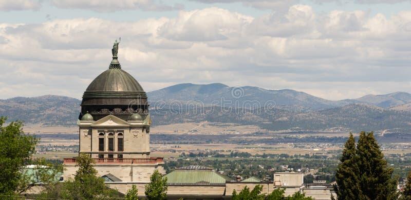 Строить положения Helena Монтаны купола панорамного взгляда прописной стоковые изображения rf