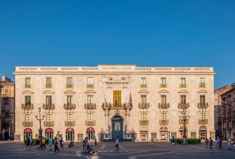 Строить университет Катании стоковое фото