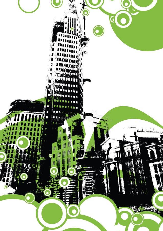 строить урбанский иллюстрация вектора