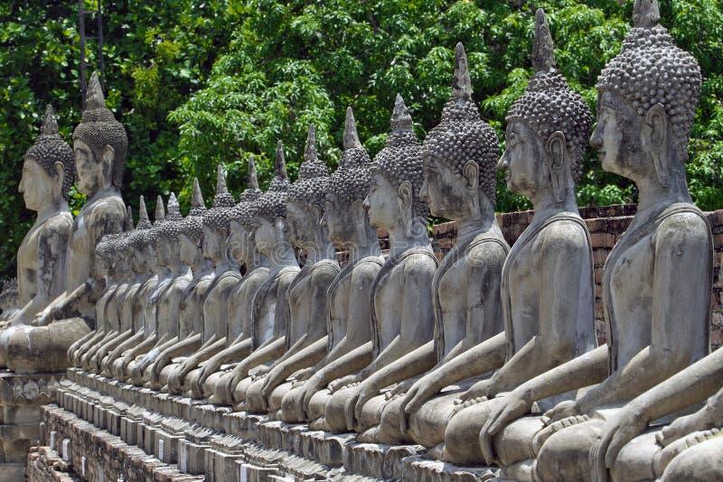 Строка изображений Будды стоковые фотографии rf