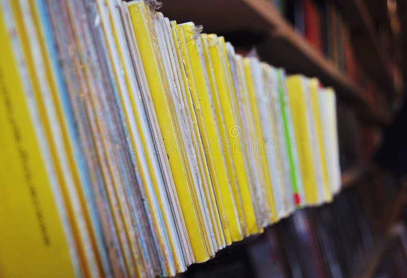 Строка книг стоковое изображение