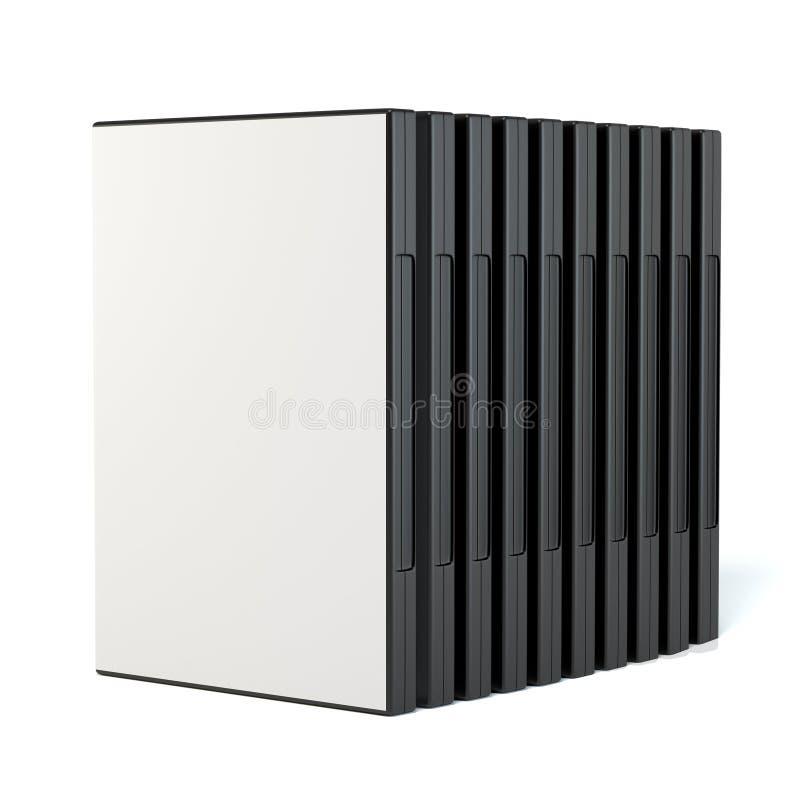 Строка коробок диска dvd стоковое изображение rf