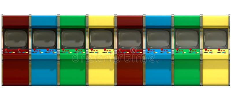 Строка машин видеоигры иллюстрация штока