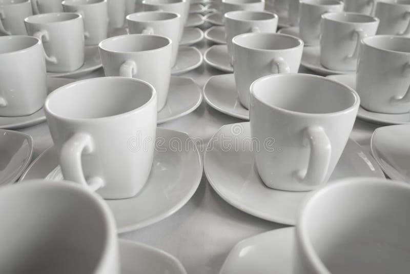 Строка чашки для семинара дела стоковые изображения rf