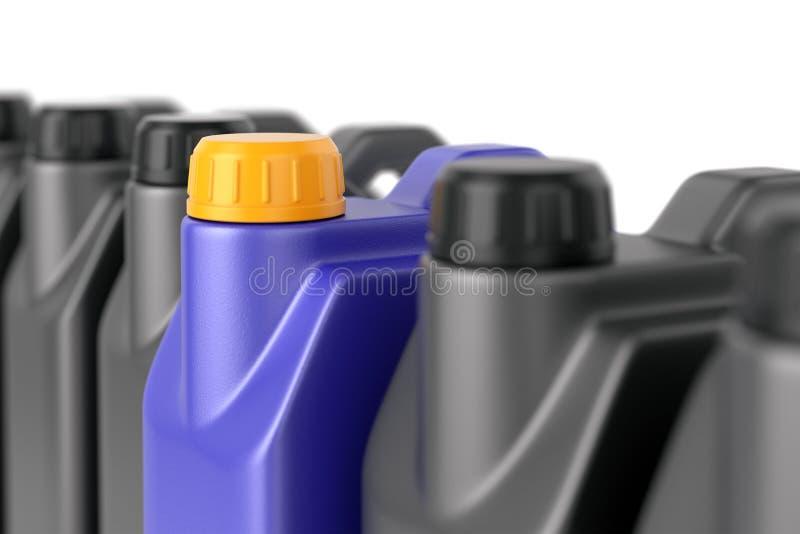 Строка чонсервных банк автотракторного масла jerry иллюстрация вектора