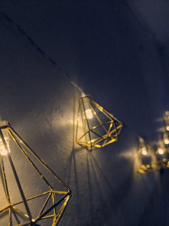 Строка Fairy светов стоковые фото