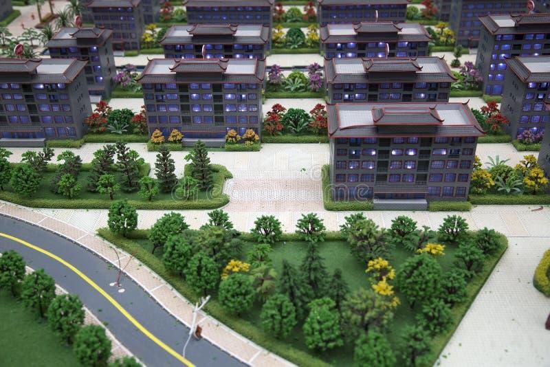 Строки модели зданий стоковые изображения rf