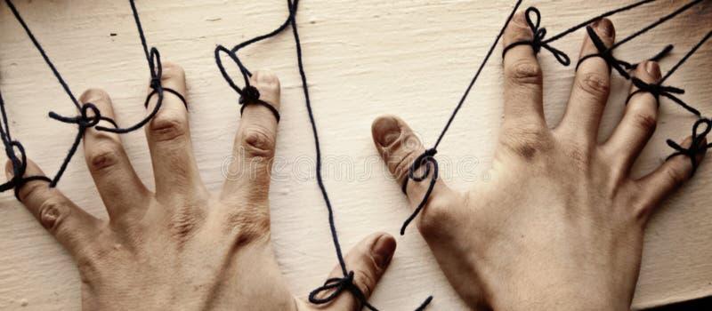 Строки на руках стоковое фото rf