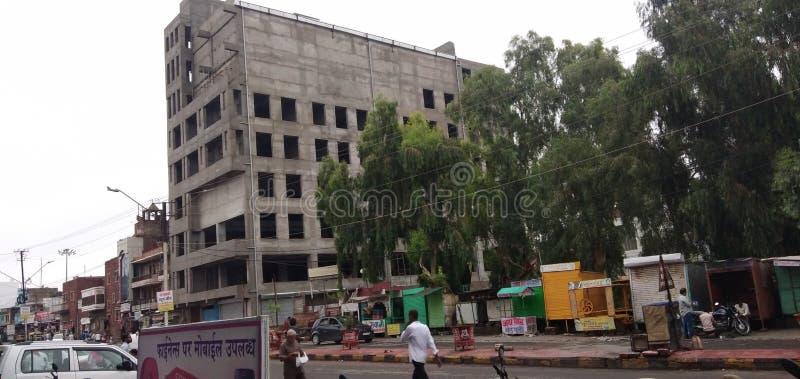 Строящееся здание в Пали-Индии стоковые фото