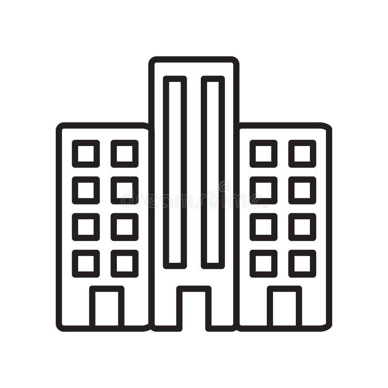 Строя вектор значка изолированный на белой предпосылке, строя знаке, тонкой линии элементах дизайна в стиле плана бесплатная иллюстрация