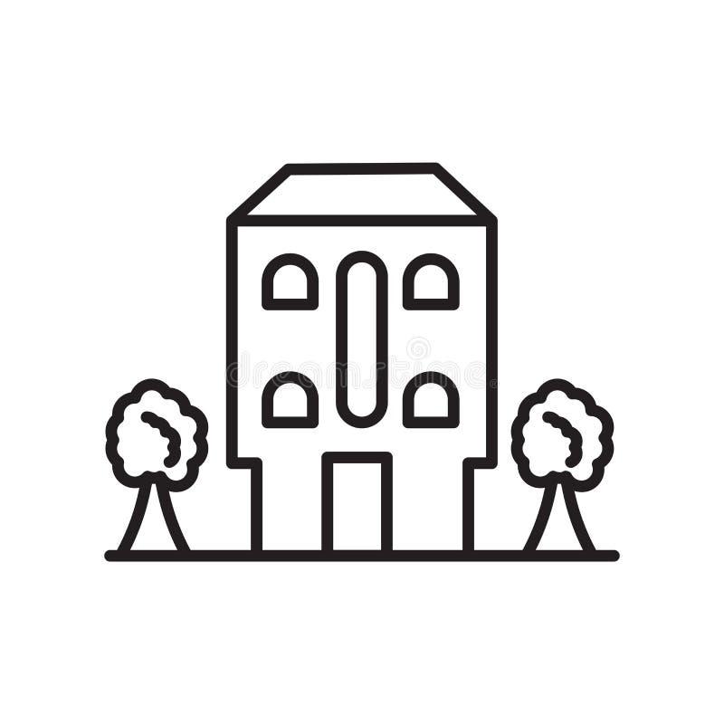 Строя вектор значка изолированный на белой предпосылке, строя знаке, тонкой линии элементах дизайна в стиле плана иллюстрация штока