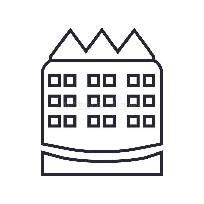 Строя знак и символ вектора значка изолированные на белой предпосылке, строя концепции логотипа бесплатная иллюстрация